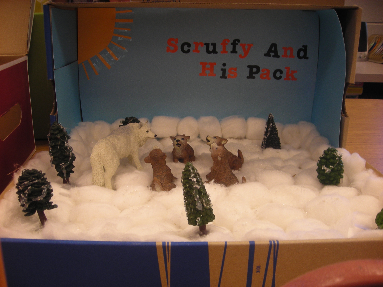 Arctic wolf diorama - photo#4